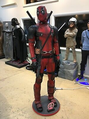 Life Size Marvel Deadpool Full Size Statue Prop
