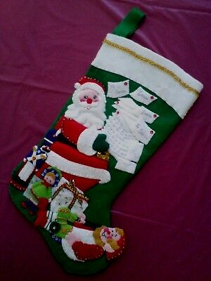 Handmade Felt beads sequins Christmas Stocking Santa's Mail 95119