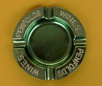 Vintage Anodised Green Ashtray Advertising Penfolds Wines