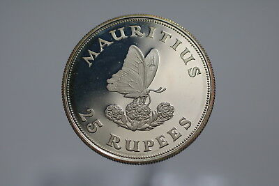 Mauritius Silver Proof 25 Rupees 1975 Wwf A77 #2170