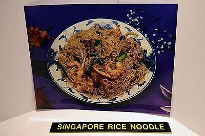 """Chinese Take Out Restaurant """"Singapore Rice Noodle"""" Backlit Poster Picture Menu"""
