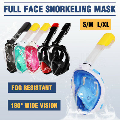 Full Face Snorkeling Snorkel Mask Anti-Fog Diving Goggles Free Breath For GoPro