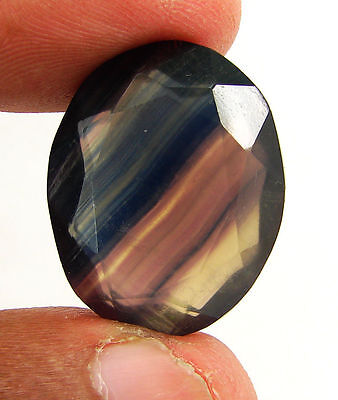 41.60 Ct Natural Beautiful Fluorite Oval Loose Gemstone Stone - H 3077