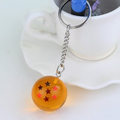 1PC Dragon Ball Z Cosplay Crystal Ball Keychain DBZ Pendant Keyring 7 Star