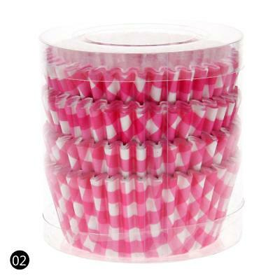 Pink 100PCS Paper Cupcake Case Wrapper Muffin Liners Baking Cups QW