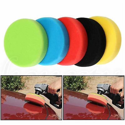 "5pcs 6"" 6inch Flat Car Polishing Foam Buffing Sponge Pad Kit for Car Polisher"