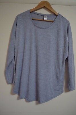 Bub2b Grey Marle, Long Sleeve Maternity Top, Size 12