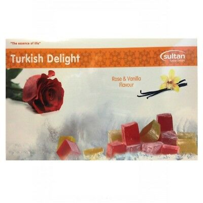 Turkish Delight Rose And Vanilla Flavour 350g  Gift  Box