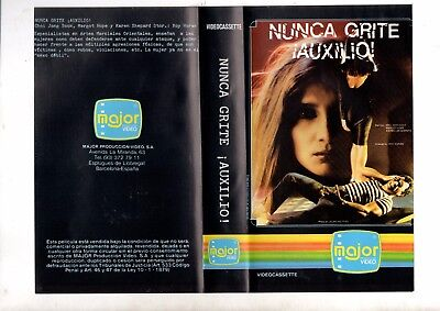 vhs or NUNCA GRITE AUXILIO Never Cry Rape. Guide to women's self defense (1982)
