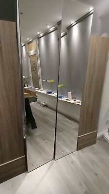 Fitted Wardrobe Cologne Dark Oak doors x 4 and mirrors