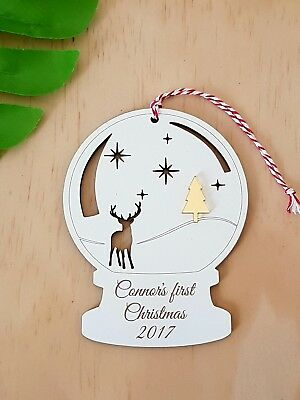 Personalised Baby's First Christmas Decoration Bauble MADE IN AUSTRALIA 1st Xmas