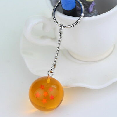 1PC Dragon Ball Z Cosplay Crystal Ball Keychain DBZ Pendant Keyring 6 Star