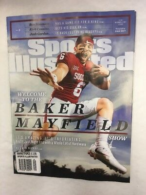 Sports Illustrated Magazine December 4Th 2017 Welcome To The Baker Mayfield Show