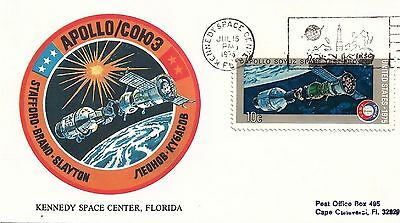 UNITED STATES - 1975 Apollo-Soyuz Test Project Souvenir Cover Kennedy Space Ctr