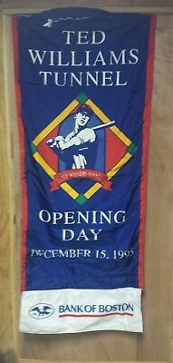 Vintage 1995 ted williams tunnel Banner Boston Red Sox RARE! 29x68 in