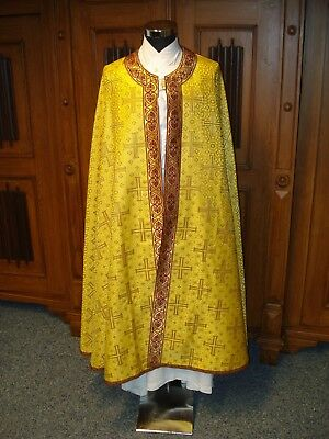 Messgewand Kasel chasuble Vestment  Chormantel Pluviale gold byzantinisch (1)