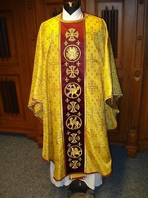 Messgewand Kasel chasuble Vestment  gold byzantinisch (2)