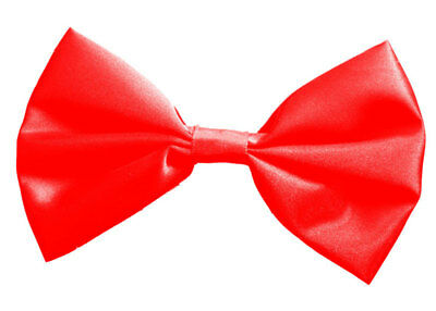Costumes|Fancy Dress|Satin Bow Tie - Red