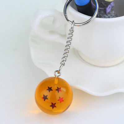 1PC Dragon Ball Z Cosplay Crystal Ball Keychain DBZ Pendant Keyring 5 Star