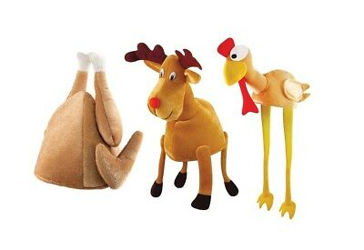 Christmas / Thanksgiving Novelty Hat (Turkey / Reindeer) Silly Fancy Dress Party