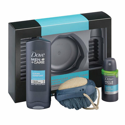Dove Men+Care Ultra Care Gift Set- Anti-Perspirant, Shower Gel and Body Scrubber