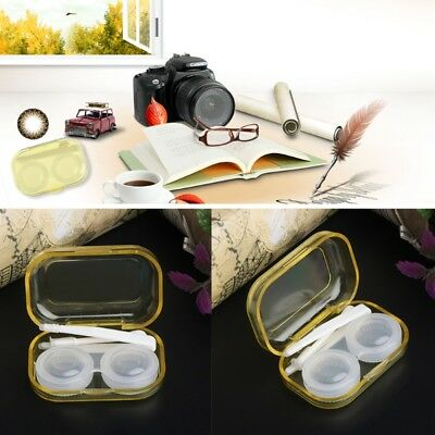 Clear Cosmetic Contact Lenses Case Eyes Care Holder Container Travel Accessaries