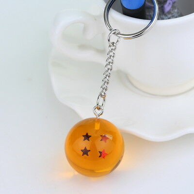 1PC Dragon Ball Z Cosplay Crystal Ball Keychain DBZ Pendant Keyring 4 Star