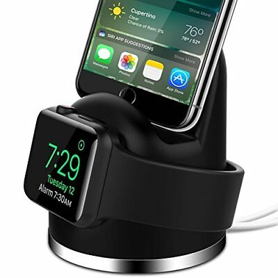2 in 1 Charging Dock Stand f/ iWatch Series 3/2/1 & iPhone X/8/8Plus/7Plus Black
