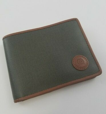 Christian Dior men's wallet 100% Authentic Leather Bifold Vintage CD logo Green