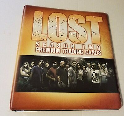 LOST  Season 2 Official Trading card Padded Binder  by INKWORKS  2006