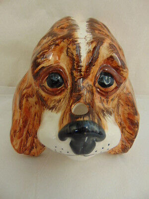 Stunning, Babbacombe Pottery, Hand Decorated Dog String Dispenser