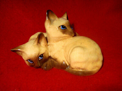 Vintage Beswick Siamese Cats Figurine 1296 Made In England