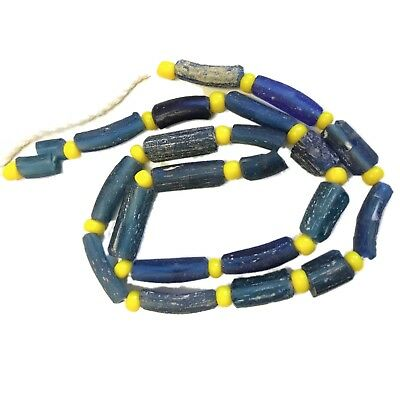 Ancient Authentic Romano - Egyptian Glass Bead Necklace 200 Ad No Reserve!