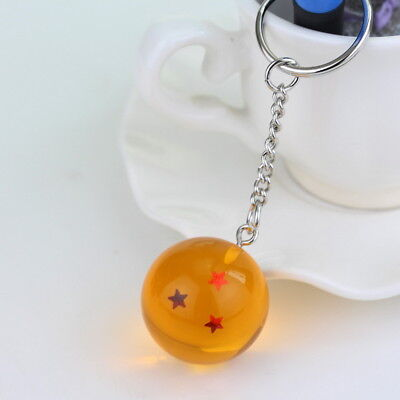1PC Dragon Ball Z Cosplay Crystal Ball Keychain DBZ Pendant Keyring 3 Star