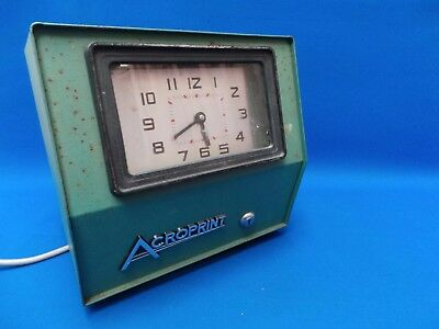 Quirky Vintage Industrial Factory 'Clocking in' Clock in Working Order