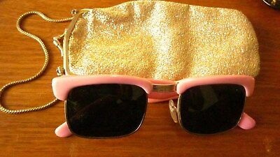 1950,s pink sunglasses with original case.Vintage.Used