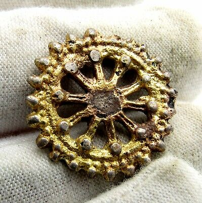 Medieval Gold Gilded Silver Pendant/amulet -  Wereable - Q56