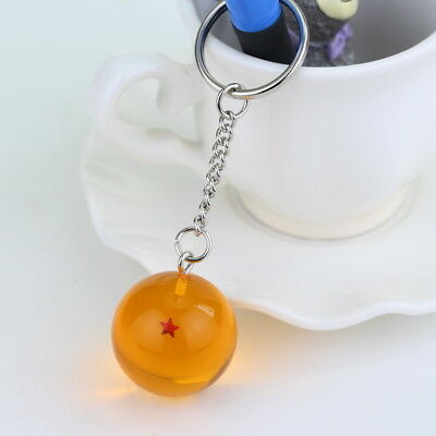 1PC Dragon Ball Z Cosplay Crystal Ball Keychain DBZ Pendant Keyring 1 Star