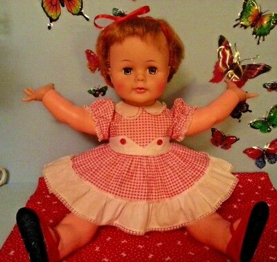 """Big & Beautiful Vintage 22"""" Kissy Doll by Ideal in her Original Outfit"""