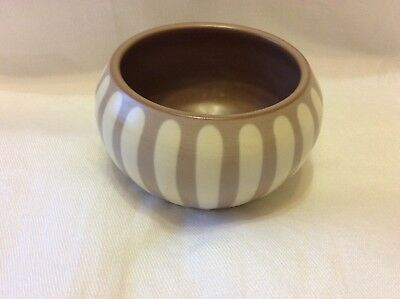Prinknash Abbey Pottery little Striped Dish sugar bowl coffee cream