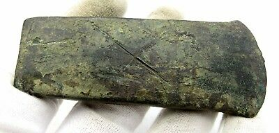 Celtic Bronze Flat Axe - Very Rare Ancient Military Historical Artifact - Q84