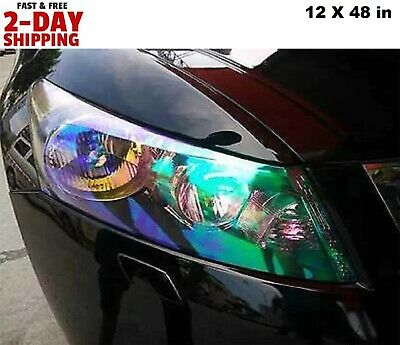 Chameleon Car Headlight Tint Transparent Gloss Vinyl Wrap Adhesive Foglight Film