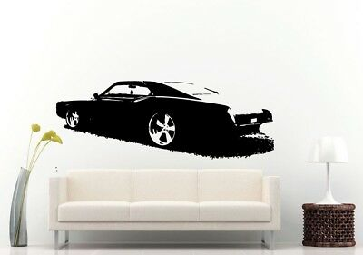 Wall Room Decal Vinyl Sticker American Muscle Old Antique Classic Sport Car L690