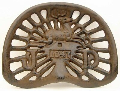 Reproduction, Collectible Cast Iron John Deere Rustic 1847 Tractor Seat