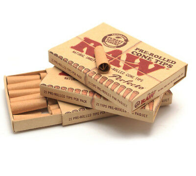 Raw Pre-Rolled Perfecto Cone Tips Cigarette Tobacco Rollers