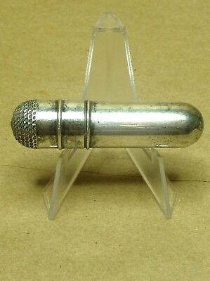 Antique Sewing Kit Sterling Silver Needle Holder Thimble Thread