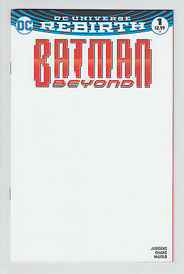 Batman Beyond #1 Blank Variant Rebirth 2016 VF+
