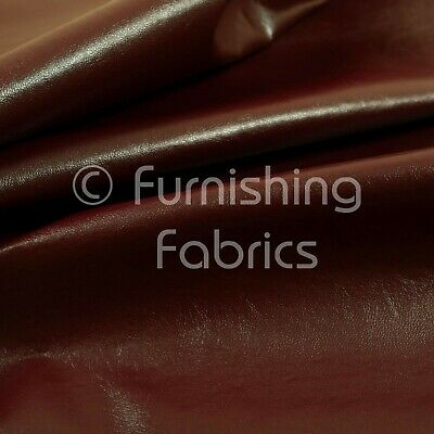Soft Sheen Vinyl Burgundy Faux Leather Upholstery Fabric Perfect For Furnishing