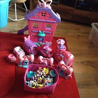 Mickey Mouse club house) Minnie Mouse large bundle of  play sets and accessories