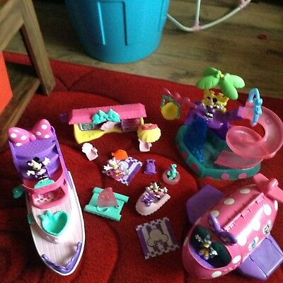 Mickey Mouse clubhouse)Minnie Mouse And Daisy Duck large holiday play set bundle